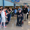 "Strayer Middle School students line up and give a warm ""thank you"" to local veterans at Strayer Middle School Friday, Nov. 11.  Debby High — For Digital First Media"