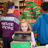 First-grader Hannah Everitt wrote a message for the recipient of the box to read.  Debby High — For Digital First Media