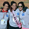 Birthday girl Briana Tavares with her mother, Joanna, and sister, Carla, get ready for Willow Dale Elementary School's Puma 5K Nov. 12.  Debby High — For Digital First Media