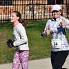 Willow Dale Elementary teacher Carla Capriotti and her daughter, Kaley, run in Willow Dale Elementary School's Puma 5K Nov. 12.  Debby High — For Digital First Media