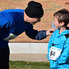 Michael Krompasdik and his son, Owen, get ready for Willow Dale Elementary School's Puma 5K Nov. 12.  Debby High — For Digital First Media