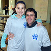 Fifth-grader Kayleigh Terrell and her dad, Chris, get ready for Willow Dale Elementary School's Puma 5K Nov. 12.  Debby High — For Digital First Media