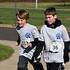 JD Dingis and Owen Niles run in Willow Dale Elementary School's Puma 5K Nov. 12.  Debby High — For Digital First Media