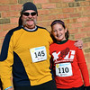 Jim Townsend gets ready to run the Willow Dale Puma 5K with his granddaughter, Hannah Mullin.  Debby High — For Digital First Media