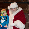 Sean Binckley, 3, of Lower Gwynedd, visits with Santa during the Lower Gwynedd tree lighting service at Veterans Park Nov. 26.  Jeff Davis - For Digital First Media