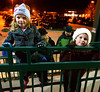 Lucy and Charlie Cully hang on the railing at Ambler Station as they watch for Santa's train Dec. 8, 2016.   |   Bob Raines--Digital First Media