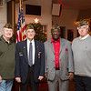 Willow Grove VFW Post 3612 officers Al Poultin, left, Ed Heary, second from left, Emmett Mayo, second from right, and Bob Murphy, right, pose for a picture at the post's annual Children's Christmas Party.  Rachel Wisniewski — For Digital First Media
