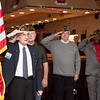 Commander Ed Heary, left, Al Poultin, Emmett Mayo and Bob Murphy of the Willow Grove VFW Post 3612 lead 17 children in reciting the pledge of allegiance.  Rachel Wisniewski — For Digital First Media