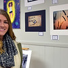 Pennridge senior Tess Woolslager displays her artwork. Debby High — For Digital First Media
