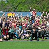 rela A group celebrating after a Zumba class at Relay on Saturday morning, May 14y for life Group Shot
