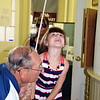 Isabella Potczny ran the bell for the state of Delaware at Sellersville Museum National Bell Ringing Ceremony on the 4th of July. Debby High for Digital First Media.