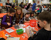 Children decorate greeting cards for senior citizens during the Giving Tree Working Hands event at Wissahickon Middle School Nov. 12, 2016.   |  Bob Raines--Digital First Media