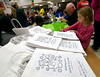 Emily Campbell decorates snowman bags during the Giving Tree Working Hands event at Wissahickon Middle School Nov. 12, 2016.   |  Bob Raines--Digital First Media