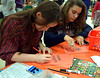 High school students Jess Thompson (North Penn) and Caitlin Tusman (Souderton) make cards for senior citizens during the Giving Tree Working Hands event at Wissahickon Middle School Nov. 12, 2016.   |  Bob Raines--Digital First Media