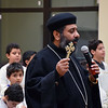 Father Antonious Salib led the prayer vigil regarding those who were martyred as well as those who were injured in Egypt Sunday, December 11, 2016 during the Sunday's Liturgy. Debby High for Digital First Media
