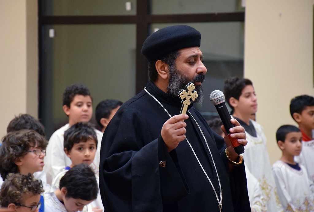 . Father Antonious Salib led the prayer vigil regarding those who were martyred as well as those who were injured in Egypt Sunday, December 11, 2016 during the Sunday�s Liturgy. Debby High for Digital First Media