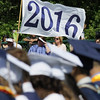 BOB RAINES--DIGITAL FIRST MEDIA // The Class of 2016 flag waves in the breeze at the Council Rock North High School commencement June 10, 2016.