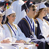BOB RAINES--DIGITAL FIRST MEDIA // Seniors happily watch their classmates get their diplomas at the Council Rock North High School commencement June 10, 2016.