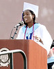 Laniyah Rhodes, president of the Class of 2016, delivers the senior message at the William Tennent High School commencement June 15, 2016. // BOB RAINES--DIGITAL FIRST MEDIA