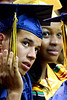 Cheltenham High School seniors listen to the speakers during the school's first off-campus commencement held at LaSalle University June 16, 2016.  __ BOB RAINES--DIGITAL FIRST MEDIA
