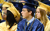 Cheltenham High School seniors listen to the speakers during the school's first off-campus commencement held at LaSalle University June 16, 2016.__ BOB RAINES / DIGITAL FIRST MEDIA