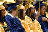 The Cheltenham High School Class of 2016 listens to the speakers during commencement held in the Hayman Center of La Salle University June 16.__ BOB RAINES--DIGITAL FIRST MEDIA