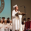 Submitted photo — Faith Christian Academy<br /> Valedictorian Lydia Mercado delivers her speech.