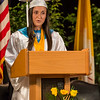 Submitted photo — St. Basil Academy<br /> Co-valedictorian Meredith Moore speaks during St. Basil Academy's graduation ceremony.