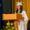 Submitted photo — St. Basil Academy<br /> Co-valedictorian Alyssa Urbano speaks during St. Basil Academy's graduation ceremony.