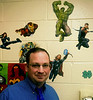 Bob Raines--Digital First Media // <br /> Wissahickon High School social studies teacher Tim Smyth incorporates comic books in his lessons.