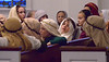 Fifth-graders babble and look around as they wait to line up for the Living Stations of the Cross at Visitation BVM Church, Norristown, Mar. 24, 2016. // Bob Raines--Digital First Media