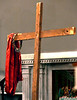 Jesus has been removed from the cross on which Mary has draped His robe and crown of thorns during the Living Stations of the Cross at Visitation BVM Church Mar. 25, 2016. // Bob Raines--Digital First Media