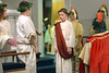 Pontius Pilate condemns Jesus in the fifth grade portrayal of the Stations of the Cross Mar. 25, 2016 at Visitation VBM Church, Norristown. // Bob Raines--Digital First Media