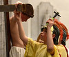 Roman soldiers nail Jesus to the cross during the Living Stations of the Cross at Visitation BVM Church Mar. 25, 2016. //  Bob Raines--Digital First Media