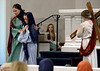 Mary Magdalene (Sophia Owen, left) leads Mary (Ella Pergine) away after they have watched Jesus (Michael Rebar), pass by dragging his cross to Golgotha Mar. 24, 2016. // Bob Raines--Digital First Media