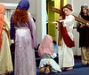 Jesus bless the women during the Living Stations of the Cross at Visitation BVM Church, Norristown Mar. 25, 2016. // Bob Raines--Digital First Media