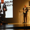 OBEY Clothing head designer and Philadelphia University alumnus Mike Ternosky accepts the Spirit of Design Award at the school's annual fashion show April 21. Eric Fitzsimmons — Digital First Media