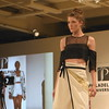"Allison A from Wilhelmina Philadelphia models an outfit from Danielle Clark's ""Chanoyu"" collection, done in collaboration with Ananya Bevinakatti, at Philadelphia University's Fashion Show April 21. Eric Fitzsimmons — Digital First Media"