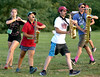Saxophone players hustle to their next set during the North Penn Marching Knights band practice  Aug. 17, 2016..  |  BOB RAINES--DIGITAL FIRST MEDIA