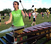 Emma Gorczyca plays marimba in the band pit during the North Penn Marching Knights practice Aug. 17, 2016.  |  BOB RAINES--DIGITAL FIRST MEDIA