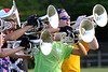 Mellophones on the North Penn Marching Knights move to their new field position during practice Aug. 17, 2016..  |  BOB RAINES--DIGITAL FIRST MEDIA