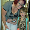 Debby High — For Digital First Media<br /> Lynn Wambold with her daughter, Rayn Babel, smile on Rayn's first day of kindergarten at Guth Elementary Monday, Aug. 29.