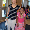 Debby High — For Digital First Media<br /> Korilynn Leecan takes her daughter, Kaiyah Leecan-Ramirez, to her first day of second grade at Guth Elementary Monday, Aug. 29.