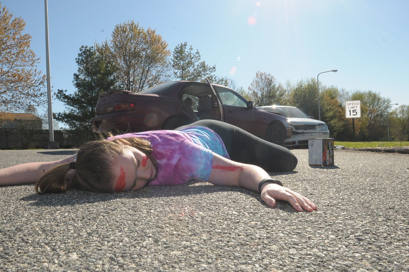 North Penn High School holds its annual DUI Reenactment has part of the school's National Distracted Awareness month program April 20, 2016. Gene Walsh — Digital First Media