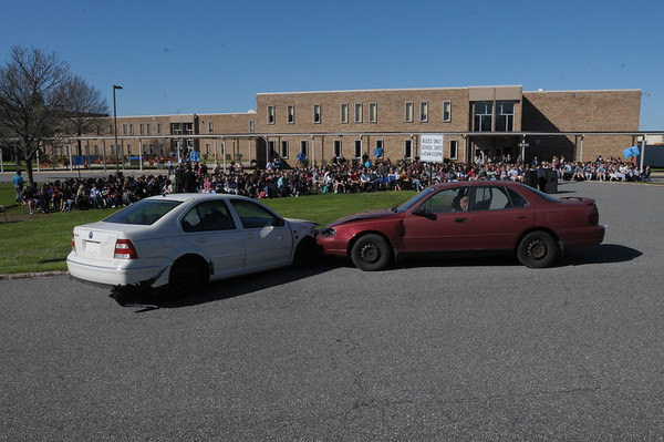 North Penn High School holds its annual DUI Reenactment