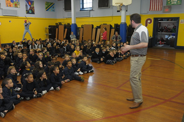 Philadelphia Soul Arena Football visits Presentation BVM in Cheltenham