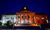 The Montgomery County Courthouse is bathed in orange light for National Gun Violence Awareness Month. / BOB RAINES--DIGITAL FIRST MEDIA
