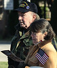 Lance Coar, USAF veteran of Vietnam and Desert Storm, stands to the rear of the audience with his wife, Sara, at the beginning of the Lower Gwynedd Veterans Day Service Nov. 5, 2016.   |   Bob Raines--Digital First Media