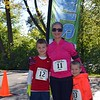 Greta Cary and her son's, Owen 9y & Elliott 6yr got ready to start the Firkin 5k run on Saturday, Oct 15, 2016. photo by Debby High for The Reporter