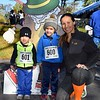 Firkin 5k runners-Evan 2yr, Ryan 4y and mom, Nicole Watkins of Lansdale. photo by Debby High for The Reporter